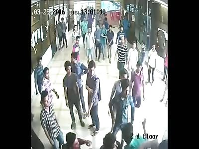 CCTV footage of Premier University student clash & murder