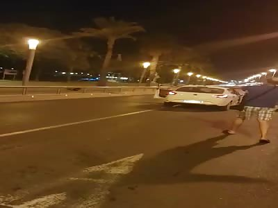 Spanish police shooting Islamic terrorist in Cambrils