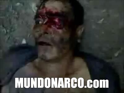 (Repost) Strong video where a hitman of Comandante Diablo by Los Zetas is beheaded