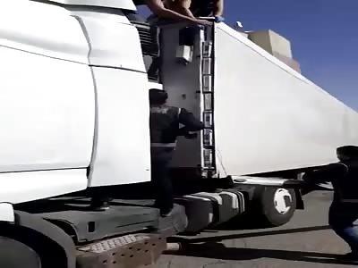 Truck driver smuggling cigarettes