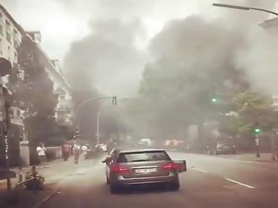 Riot at the G20 summit in Hamburg
