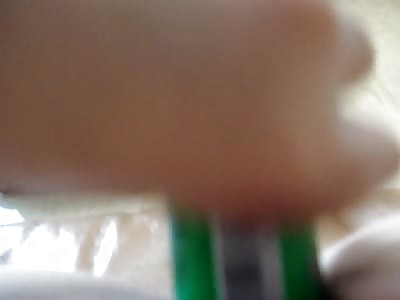 Girl masturbate with gluestick