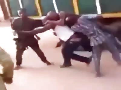Truck driver beats up policeman, runs away with his ak-47