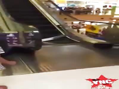 Escalator accident