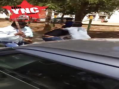 Father in law beats son in law in Public