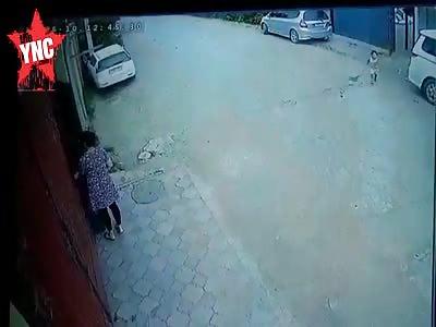 Speeding car kills 6 year old boy
