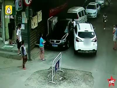 woman nearly got crushed