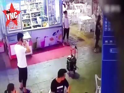 man gives his girlfriend a good beating