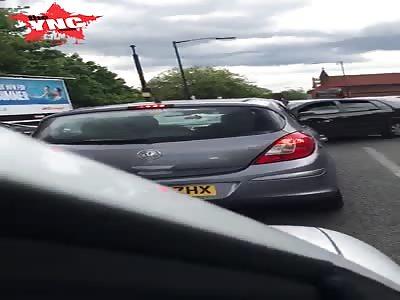 road rage in  Birmingham England
