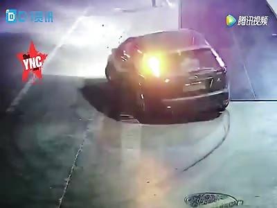 body stuck in a   car wheel of a ford in Zhejiang