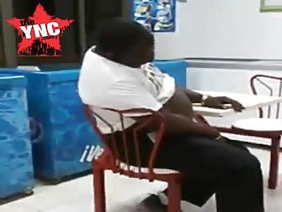 stupid nigger at a fast food restaurant