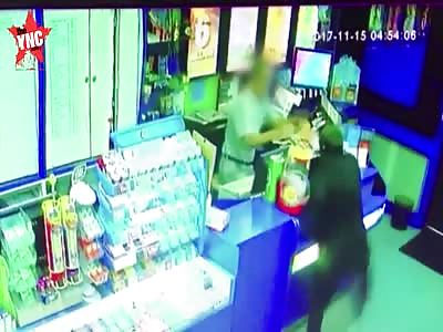 in Australia  shopkeeper vs masked robber