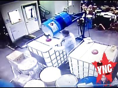 big Explosion Inside a New york Cosmetics Plant
