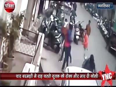 A property dealer was shot dead  in the Gwalior City Madhya Pradesh
