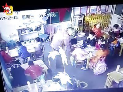 elderly teacher makes a student suffer for 12 seconds
