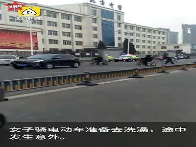 Cycling woman was killed in Xinzhou