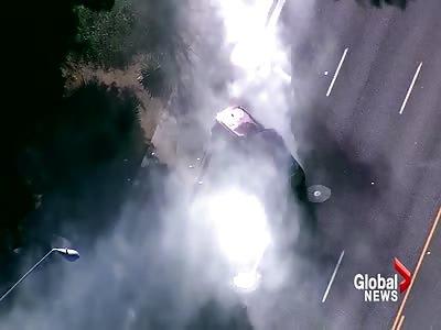 High speed police pursuit culminates with  head-on crash in Arizona
