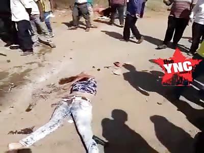 A terrible accident in   in Mysore Near Andolana circle,Mysuru, Karnataka