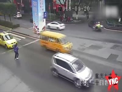 zebra crossing accident in Chongqing
