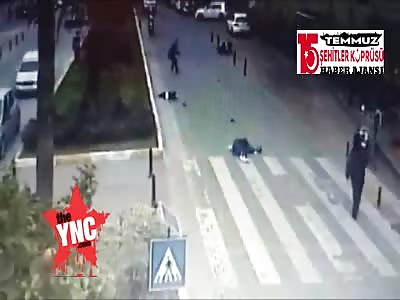 zebra crossing accident in Turkey