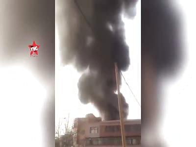 a boiler  explodes in Dalian