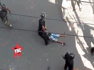 Hindu was beaten in the Hindu and Muslim riot in kankinara bhatpara