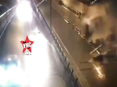 accident  on the Chongqing Caiyuanba Yangtze River Bridge