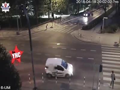 zebra crossing accident in Poland