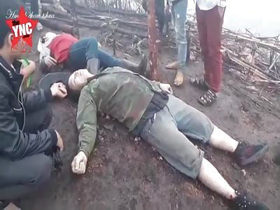 The killing of 2 people near the Vietnamese & laos border