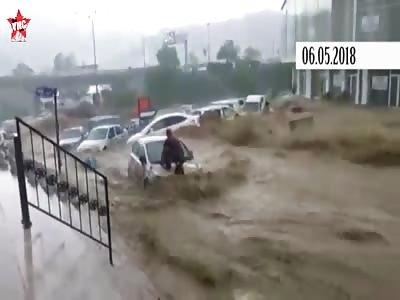 Heavy rain and floods in turkey