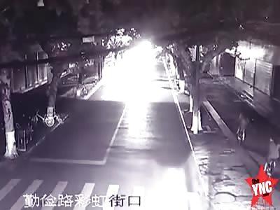 zebra crossing accident in  Jiaxing
