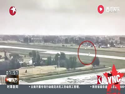 plane accident in  Yangzhou at Taizhou International Airport