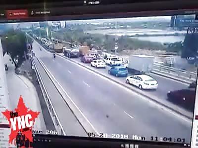 in the Philippines  11-vehicle smashup jams Marcelo Fernan Bridge in Cebu