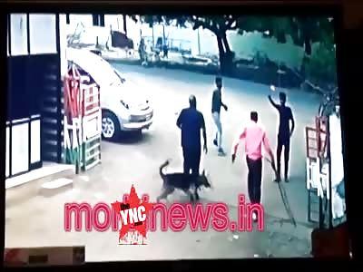 Drunk man openly stabbing people in Morbi