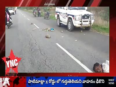 Unidentified person dies in road accident in  Patimatla,Telangana