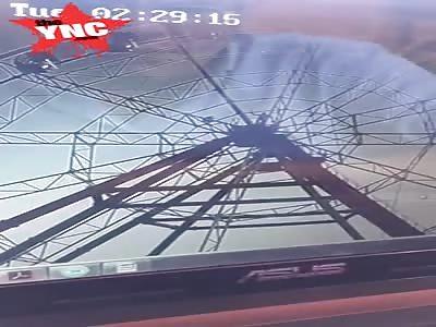 A drunken man fell from the Ferris wheel in Irkutsk, Siberia, Russia