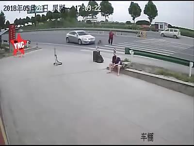 zebra crossing accident in  Luoyang