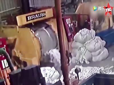 Factory machine accident