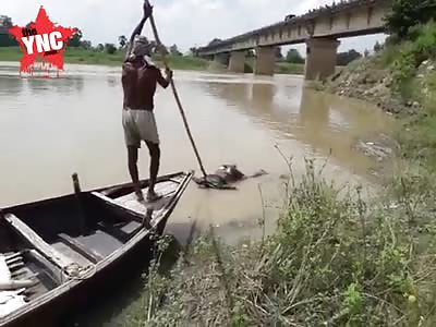 dead body found in the old Gandak near the Rosda-Singhighaghat bridge in Rahua