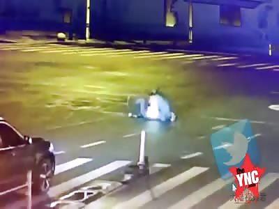 man murdered on the zebra crossing in Yuyao City