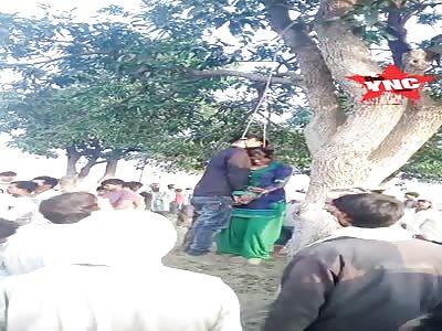 love couple suicide on a mango tree in Fatehpur