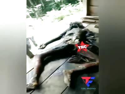Body discovery of a rotting man in Aek Natas Labuhan Batu Utara