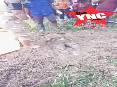 Body discovery of dead woman found in the mud  in Talang Paris Hamlet, Gunung Agung Village, Terusan Niliki District, Lamteng