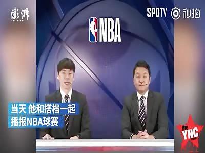 Zhao Xianri has a noise bleed live on south Korean tv