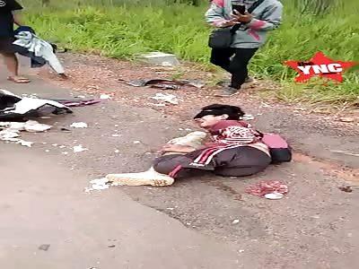 youth leg broken & 1 dead in Ketapang Regency