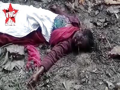 rotten dead woman in  Shravasti District