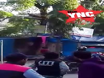 long shot video of a Suicide or murder victim in Silchar,Assam