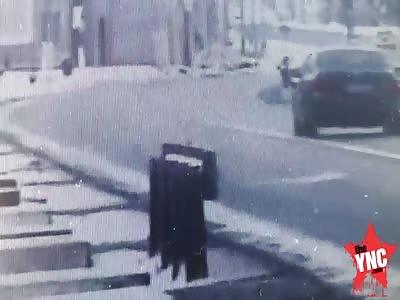 car accident in Romania, in the village of Şaroş pe Târnave