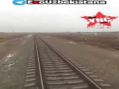 youth killed by a train in Uzbekistan
