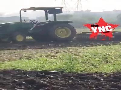 Punjabi stunt man live  tractor accident